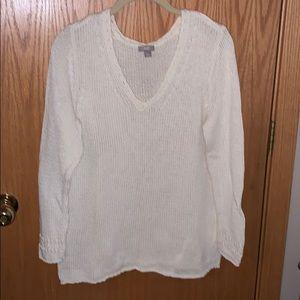 J Jill cream sweater Size Large